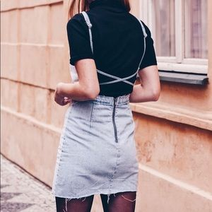 ZARA denim dress with open back
